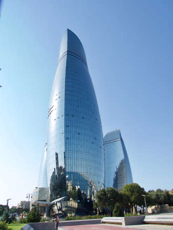 Flame Towers, modern architecture in Baku Standard-Bild - 167652556