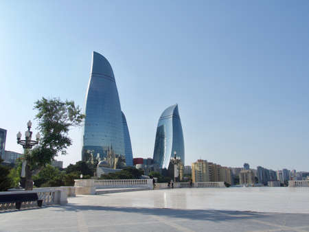 Flame Towers, modern architecture in Baku