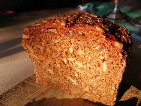healthy home made Bread in the morning Standard-Bild