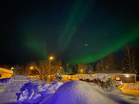 Northern lights (Aurora Borealis) in North of Sweden