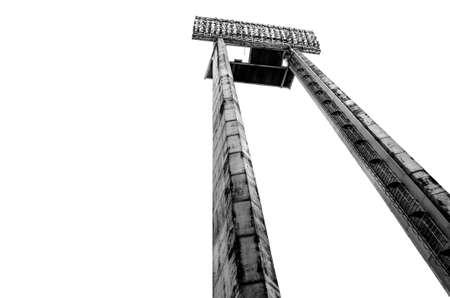sports venue: Proyector de alta en un lugar de deportes al aire libre Foto de archivo