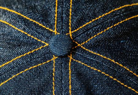 cloth cap: Close-up of the crown of cloth cap