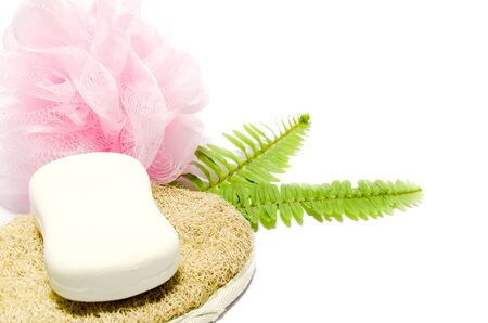 scrubbers: Perfumed soap with gentle and hard scrubbers