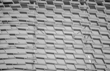 aluminium: Modern decorative grid made from aluminium rectangles Stock Photo