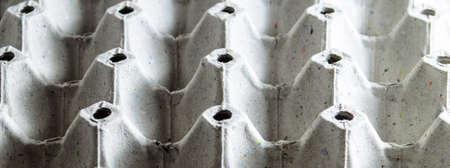papier mache: Close up of papier mache egg tray
