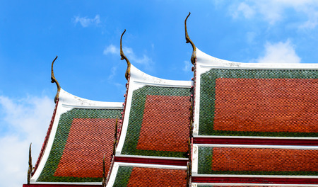 architectural  detail: Architectural detail on roof of Thai temple