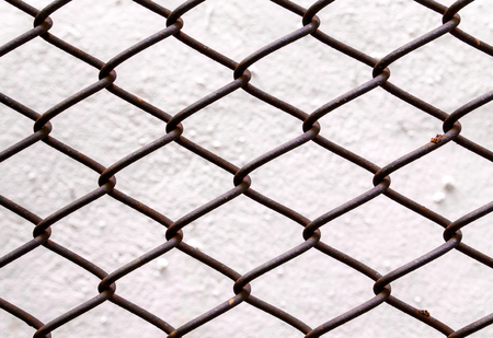 link up: Close up of chain link fence section