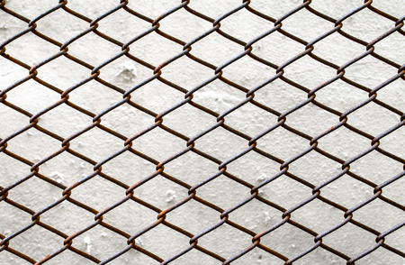 detain: Close up of chain link fence section