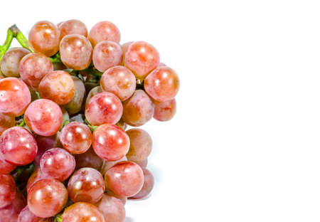 jhy: Bunch of red grapes on white background