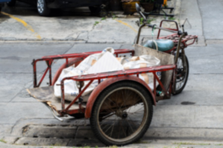 tricycle: Old tricycle used for goods carrier transportation