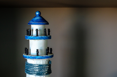 Miniature lighthouse used for display and decoration