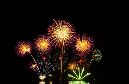 Explosion of fireworks at Christmas and New Year display