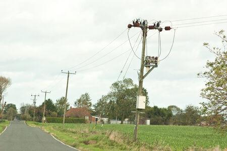 Roadside Power Supply Line Imagens - 24429903