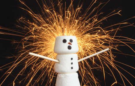 Marshmallow snowman photo