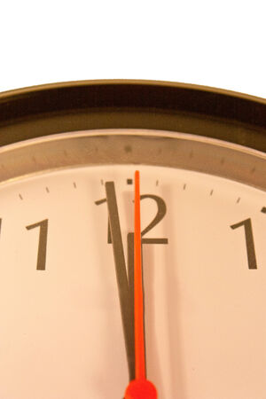 timezone: Wall clock showing near to twelve