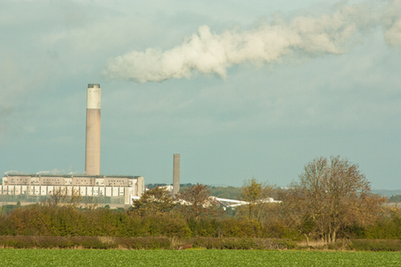 ozone layer: A typical British power station in use