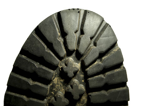 tred: Close up of the sole tred of a military boot Stock Photo