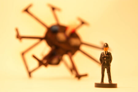 Drone Incident Stock Photo