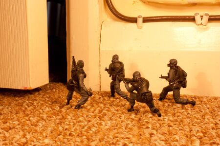 special forces: Special Forces Raid Stock Photo
