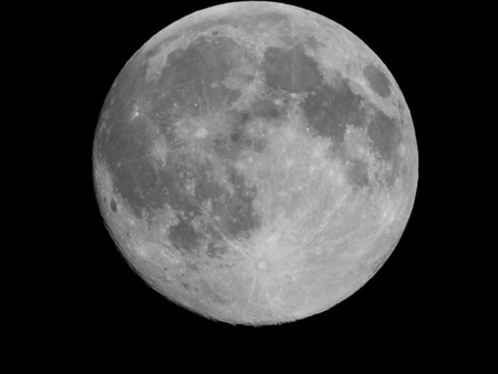 Moon Setting Standard-Bild