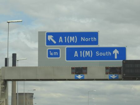 A1 M North and South Sign