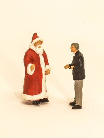 december 25th: Meeting Santa Claus Stock Photo