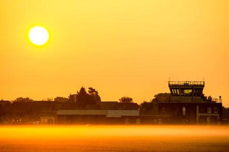 atc: Misty Air Traffic Control Stock Photo