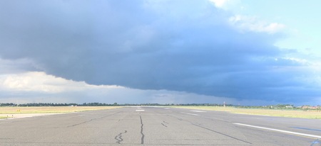 front of: Airport Weather Front Overhead