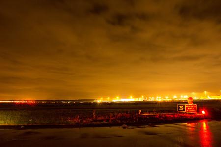 Airport Nightscape Stock Photo