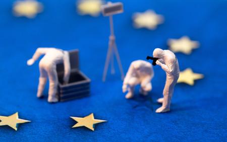 EU Investigation Stock Photo