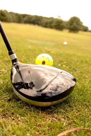 off course: Golf Lessons Stock Photo