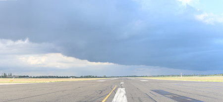 A view of a runway at one of the UKs largest growing airports.