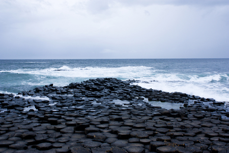 One of the Worlds wonders, the Giants Causeway at the North coast of Northern Ireland.