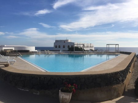 A look at where everyone enjoys most, a gorgeous pool at a holiday resort.