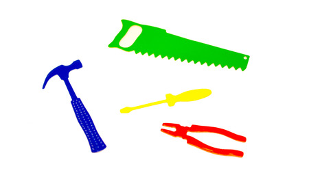 A selection of colourful tools. Stock Photo