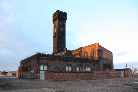 A very old derelict listed building at Birkenhead, Liverpool in England UK.