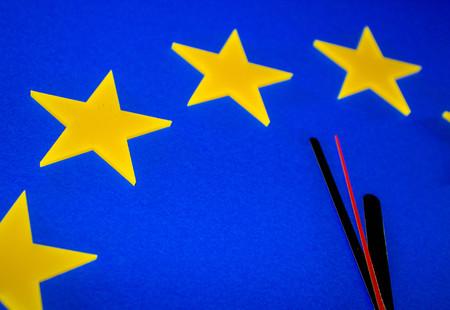 Un reloj de la UE que representa la cuenta regresiva hasta Brexit.