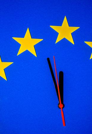 An EU clock representing the countdown until Brexit.