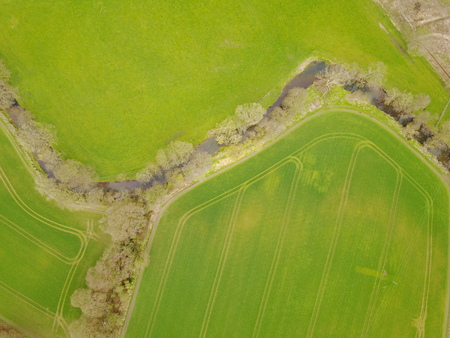 aerial view of beautiful landscape Stock Photo
