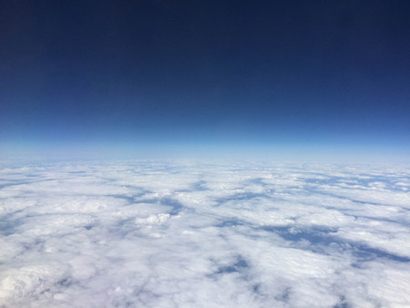 A view from high up in the skies above the Earth, seen below are the beautiful clouds.