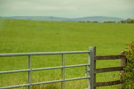 A gate to a field to keep animals protected. Reklamní fotografie