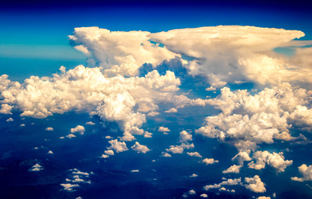 A view from altitude of the skies weather.