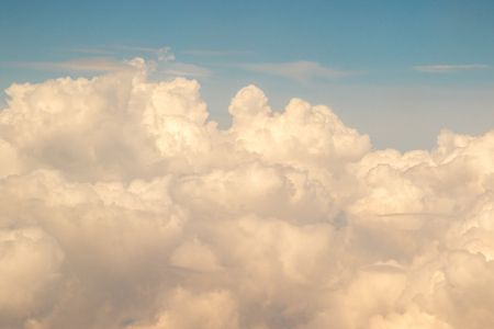 Clouds in all shapes and sizes and colours. 版權商用圖片