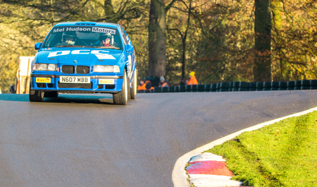 18th November 2018 - Cadwell Park, Lincolnshire, United Kingdom. Competitors race around a tarmac racetrack in their modified and powered rally cars.