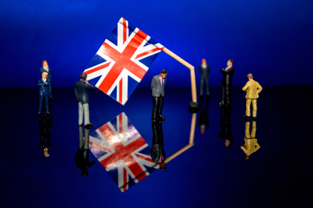 A scene to signify the broken Brexit process....figures wander around trying to come up with a solution.