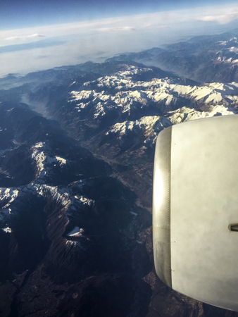 A view from the window of a passenger / business airline / jet. Standard-Bild