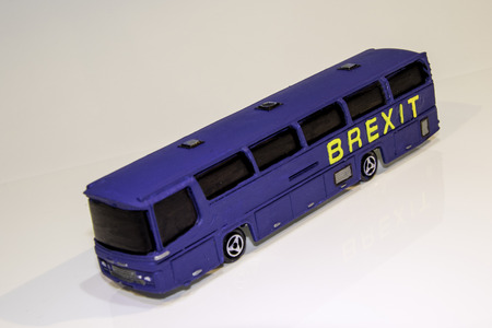 One of the famous parts of the Brexit vote was the bus that showed the £350 million on the side of it. Here is a spin off of that Brexit bus.