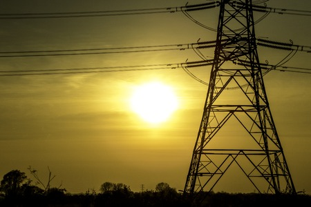 A typical electricity pylon in the United Kingdom.