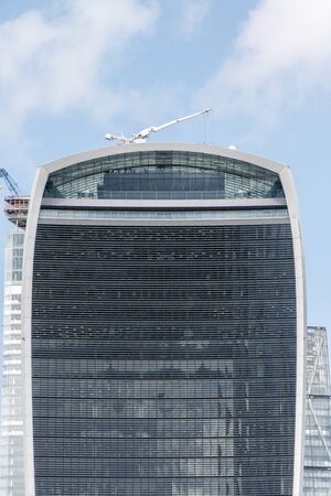 August 19, 2019 – London, United Kingdom. The Walkie Talkie building is one of the largest and most spectacular buildings in London. Stock Photo