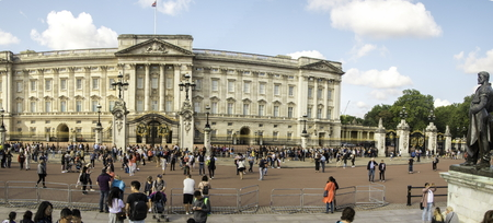 August 20, 2019 – Buckingham Palace, London, United Kingdom. A view of the famous and beautiful building which the Queen resides in. Editorial